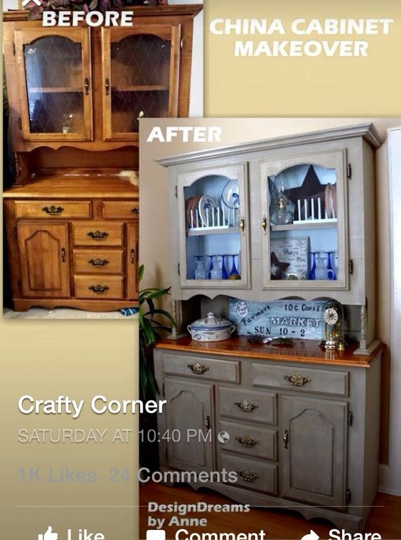 Remake china cabinet crafts repurposed items pinterest for China kitchen cabinets