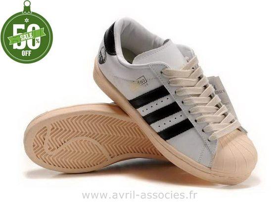 Boutique Adidas Superstar 35e Anniversaire Hommes Blanc Brun Noir (Adidas Superstar 2 Enfant)