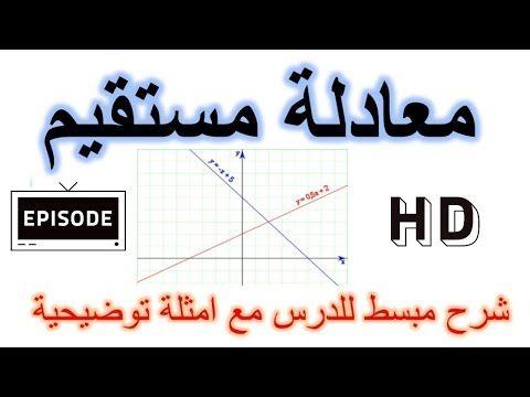 رياضيات الثالثة اعدادي المعادلة المختصرة لمستقيم جزء 1 شرح الدرس مع امثلة Youtube Math Math Equations