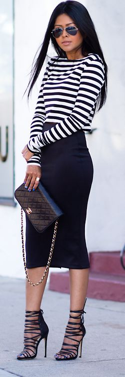Love the pencil skirt and heels