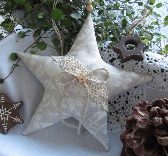 Stern-Weihnachten  im Landhaus - Stil von Feinerlei auf DaWanda.com