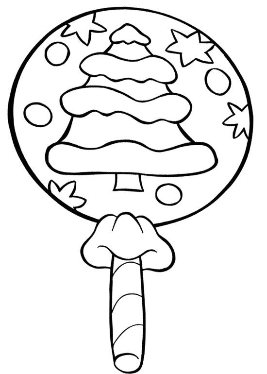 christmas lollipop candy coloring page cookie