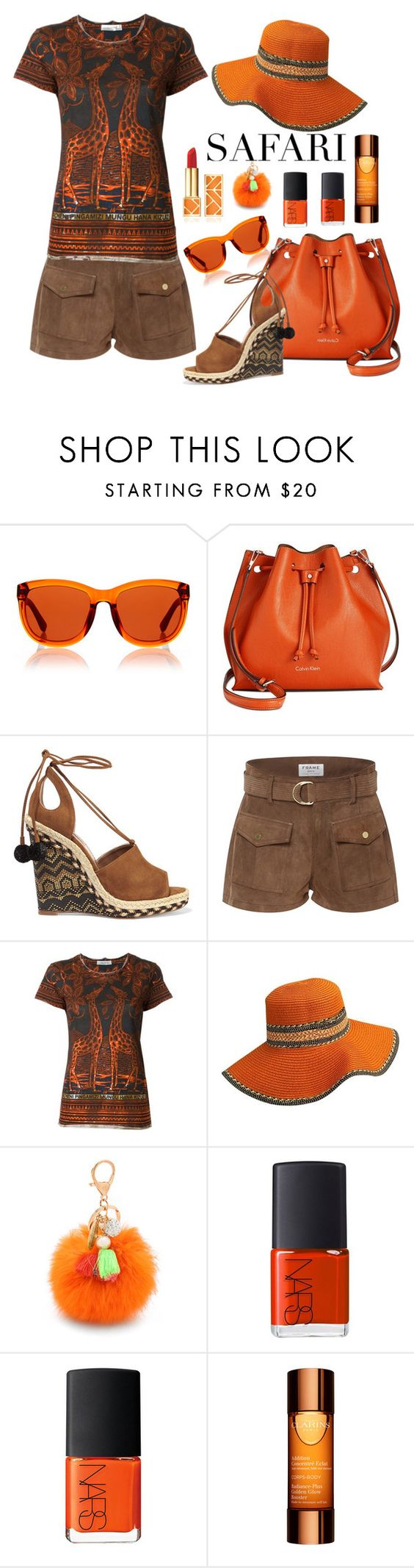 """""""Untitled #3652"""" by julinka111 ❤ liked on Polyvore featuring The Row, Calvin Klein, Aquazzura, Frame Denim, Valentino, Lenora Dame, NARS Cosmetics, Clarins and Tory Burch"""