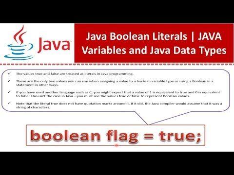 Java Boolean Literals Java Tutorial Youtube Java Tutorial Java Tutorial