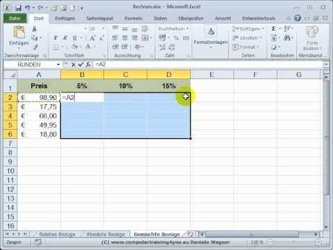 Excel Einstieg 26 Gemischte Bezuege Bezuege Einstieg Excel Gemischte Technology Excel Tutorials Microsoft Excel Business Planner