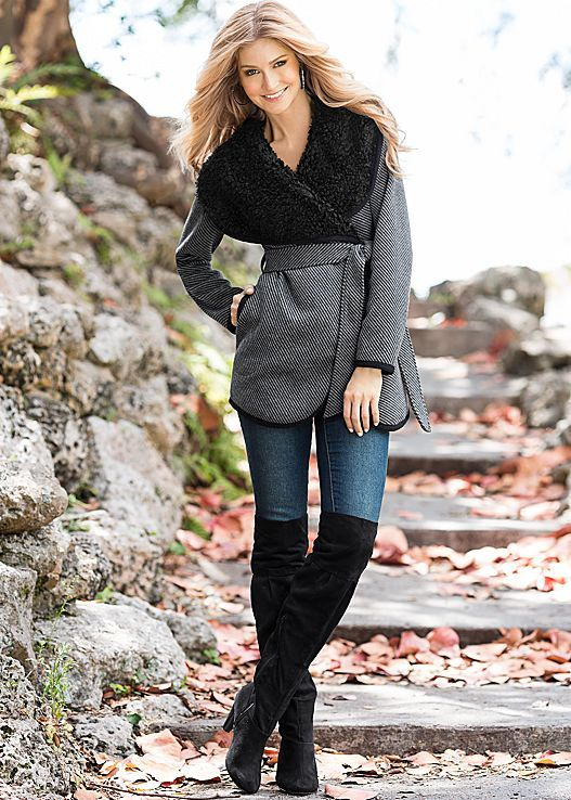GREY MULTI(GYMU) Gear up for the cold weather and look fabulous while doing so. from VENUS
