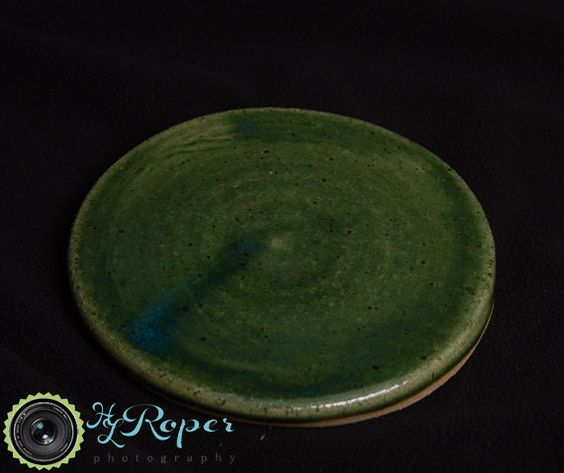 Wheel Thrown Stoneware Coaster Army Veteran by TazChessieArtwork