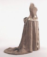 Dress | House of Worth | France; Paris | 1875 | silk | Landesmuseum Württemberg | Museum #: 1988-266 a,b