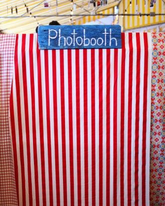 "See the ""Handmade Photo Booth"" in our  gallery"