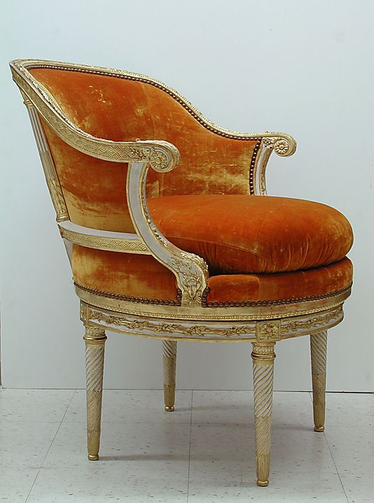 Desk Chair (Fauteuil De Cabinet) /   Date:19th–20th century  Culture: French: