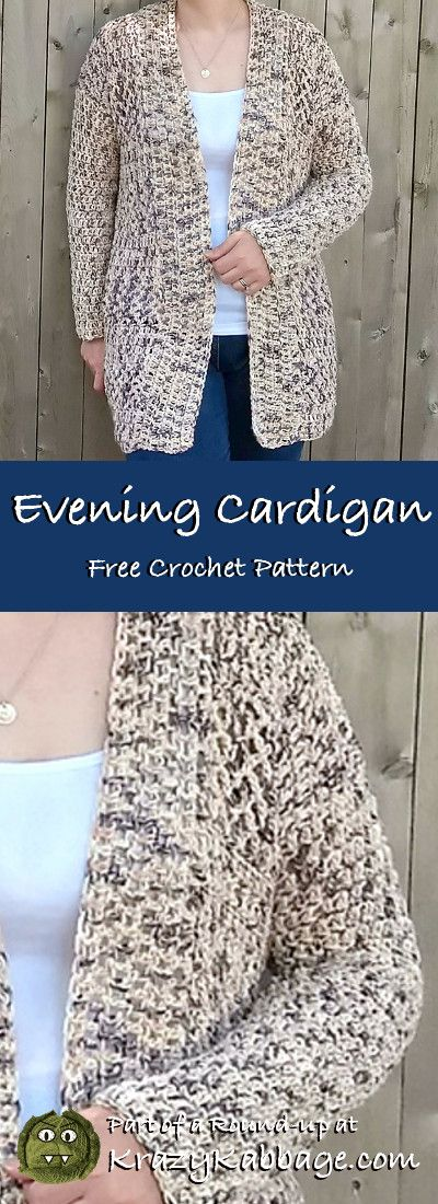 Cozy Cardigans Free Crochet Patterns - Krazy Kabbage #crochet #cardigan #free #pattern #fall #style #fashion #sweater #lionbrand #flikka #yarn #keepsake