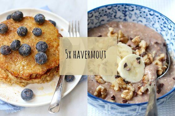 Havermout bevat veel vezels, weinig calorieën en omdat het een complexe koolhydraat is, zit je er lekker lang van vol. Dit zijn onze 5 favoriete gerechten met havermout.