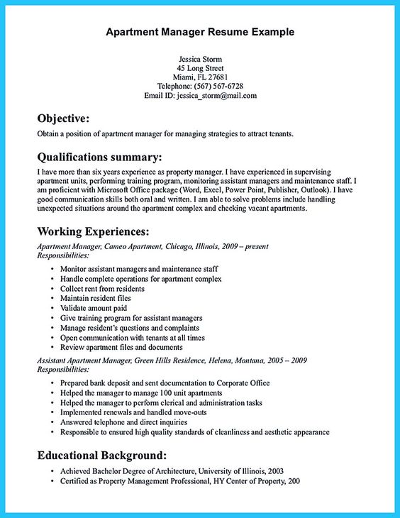 Pinterest u2022 The worldu0027s catalogue of ideas - property manager resume sample