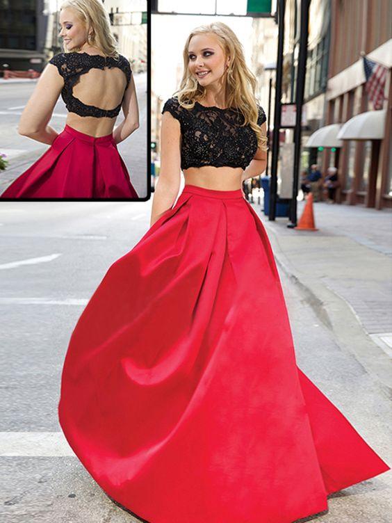 a linie u ausschnitt taft lange abendkleider ballkleider rot 2016 kleider pinterest. Black Bedroom Furniture Sets. Home Design Ideas