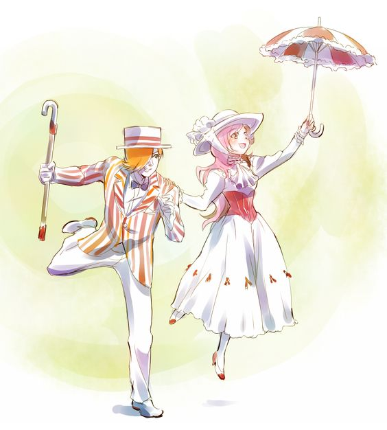 Roman And Neo Dresses As Mary Poppins