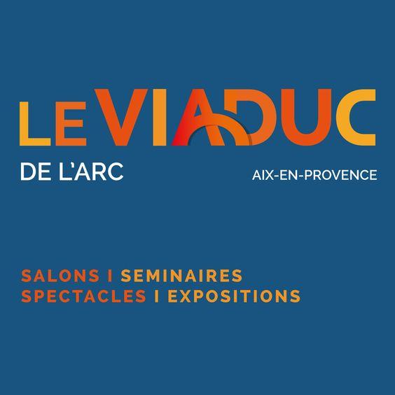 """Logo """"Le Viaduc de l'Arc"""", espace événementiel - Aix-en-Provence Création graphique. © stéphane huvé"""