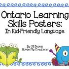 $ Ontario Learning Skills printable posters for the classroom