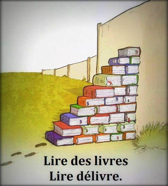 Lire des livres, lire délivre.: