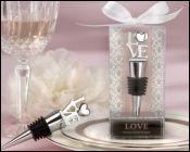 Unique And Elegant Love Winestopper Favors