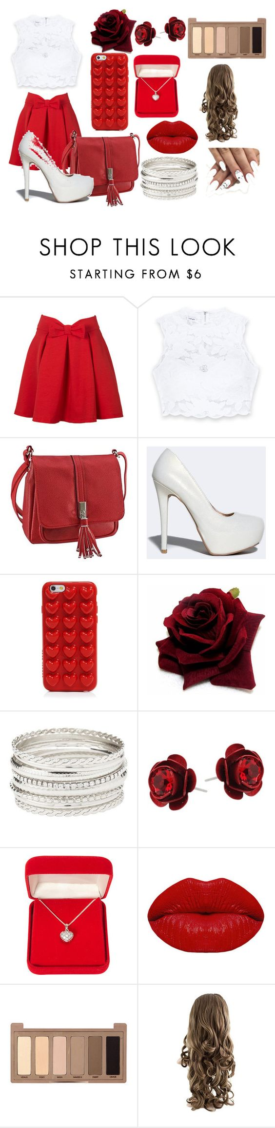 """""""Red Fire"""" by demetriyahlane on Polyvore featuring Bebe, Qupid, Marc Jacobs, Charlotte Russe, Michal Negrin, Alexa Starr, Winky Lux and Urban Decay"""