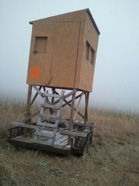 Portable Trailer Deer Hunting Blinds : Mobile deer blind my life pinterest blinds