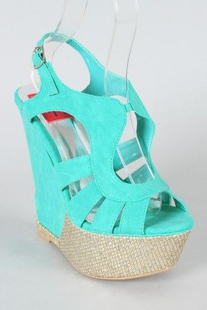 Love: Blue Wedges, Aqua Wedges, Summer Shoes, Mint Wedges, Color Shoes, Turquoise Wedges, Wedges Ahhhh, Summer Wedges, Teal Wedges