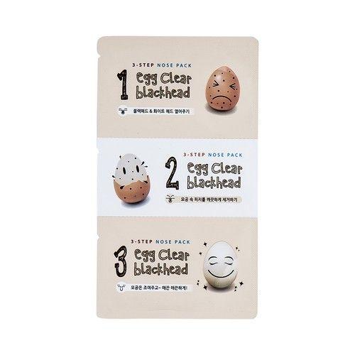 Egg Clear Blackhead 3-Step Nose Pack