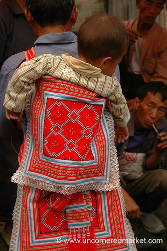 embroidered baby carrier, Guizhou Provence, China
