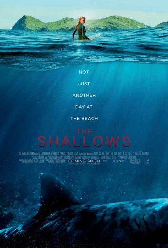 The Shallows Movie Poster 11 X 17 In 2021 The Shallows Movie Free Movies Online Streaming Movies