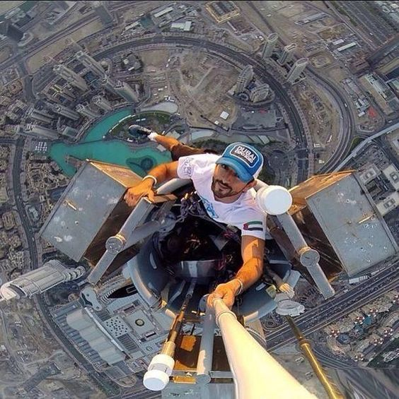 Selfie From The Tallest Building In The World Burj Khalifa - by Sheikh Hamdan bin Mohammed Al Maktoum pic.twitter.com/JfHJmyfnbP