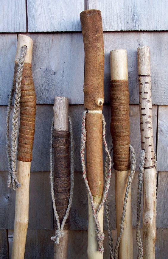 orgo walking sticks, yep I make these whenever I'm in  a wood