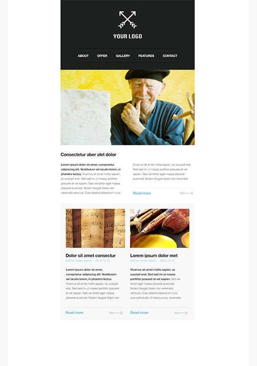 Arts and entertainment newsletter templates email marketing gr.