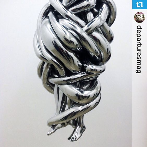 redblissdesign on Instagram - Louise Bourgeois's hanging artworks at @cheimread gallery in NYC.