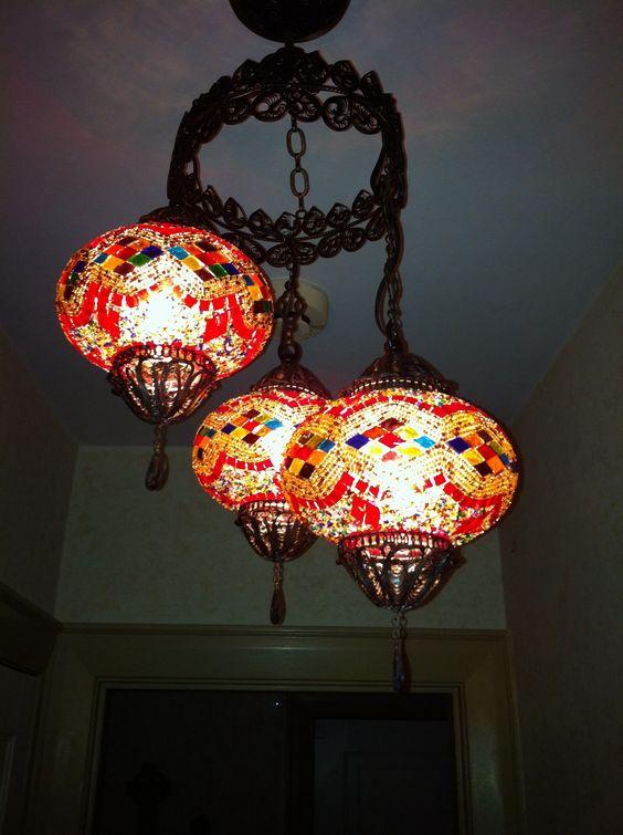 Turkish lanterns Josie brought me backr from Istanbul..❤️