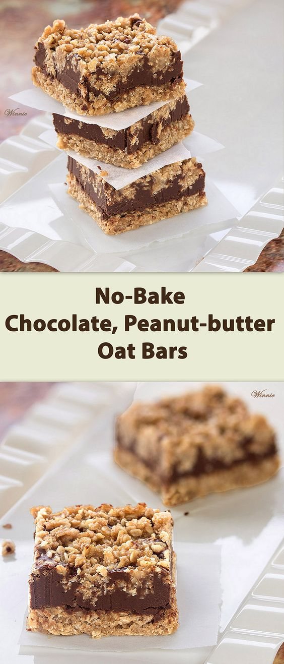 Oat bars, Bar and Chocolate on Pinterest