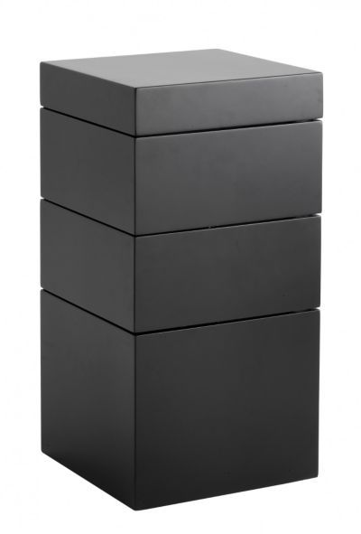bloc bout de canap 4 tiroirs noir mat ma wishlist fly. Black Bedroom Furniture Sets. Home Design Ideas