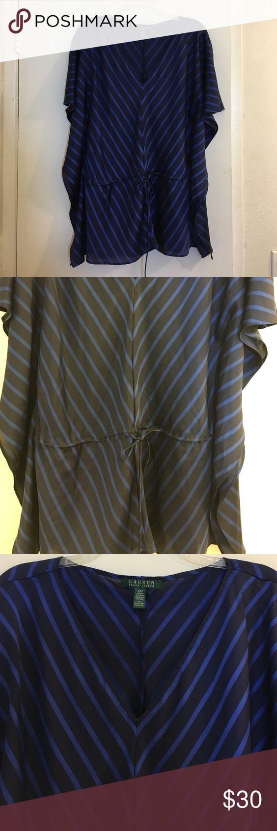 LAUREN Ralph Lauren Top Size S/M 100% polyester. NO TRADES/PAYPAL. Lauren Ralph Lauren Tops