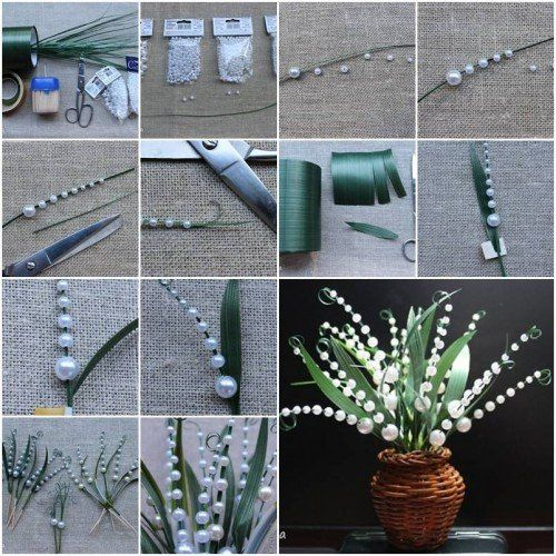 Diy Craft For Home Decor Unique How To Make Lily Of The Valley Step By Step Diy Tutorial I Pinterest Diy Crafts Diy Crafts For Home Decor Diy And Crafts Sewing