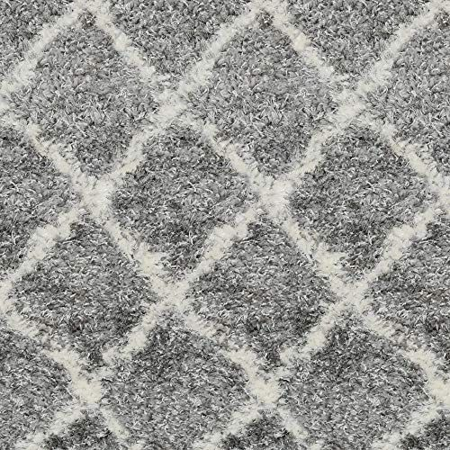 Kane Carpet 10 X 10 Superior Gray And Ivory Moroccan Pattern Square Polypropylene Area Rug In 2020 Kane Carpet Area Rugs Moroccan Pattern