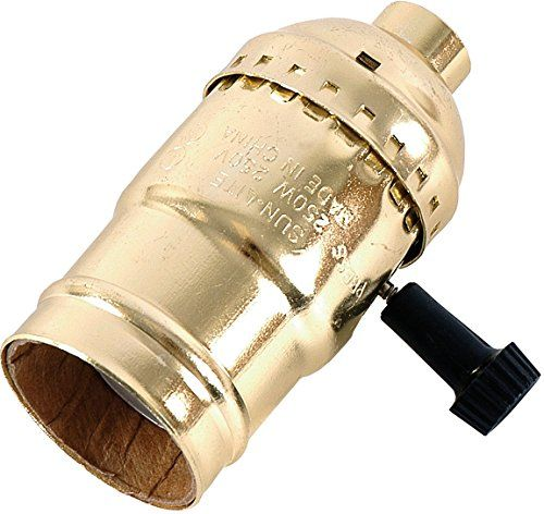 Ge 3 Way Lamp Socket Gold 54372 Lamp Socket Light Accessories Bulb