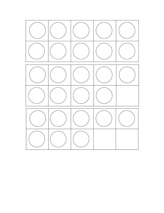 Ten Frame Template | School | Pinterest | Frame Template
