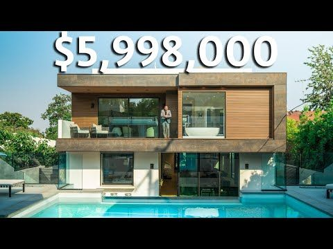 Inside A 5 998 000 Los Angeles Modern Smart Home With Glass Infinity Edge Pool Youtube Infinity Edge Pool Smart Home Home