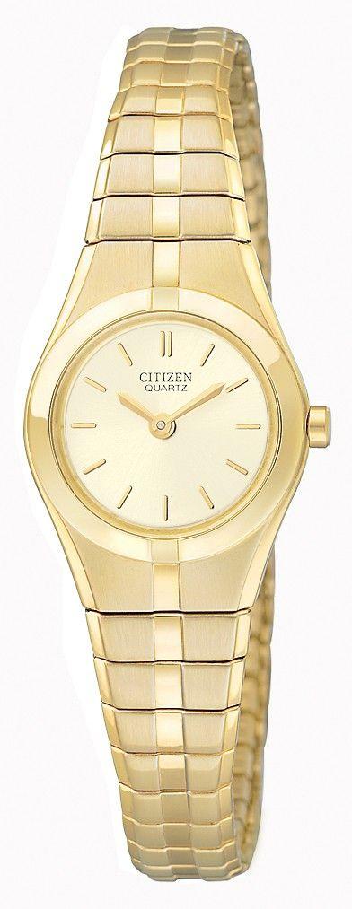 Citizen Quartz Womens Analog Stainless Watch - Gold Bracelet - Gold Dial - Ek1142-95p