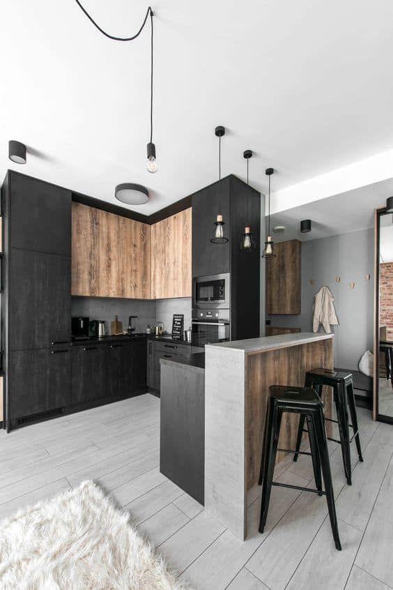 Tendances Meubles 2021 En 2020 Interieur Moderne De Cuisine Designs De Petite Cuisine Appartement Industrielle