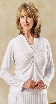 White Knotted Top $39.99, S, Temple Top