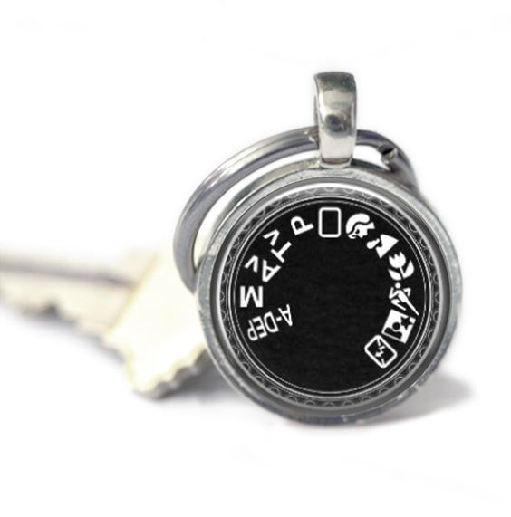 Camera Mode Key Chain for Photographers, Photography Keychain, Camera Key Ring by MissingPiecesStudio on Etsy https://www.etsy.com/listing/152016525/camera-mode-key-chain-for-photographers