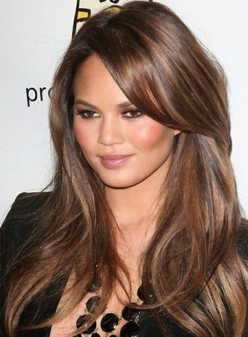 Celebrity Long Hairstyles with Side Swept Bangs | Full Dose