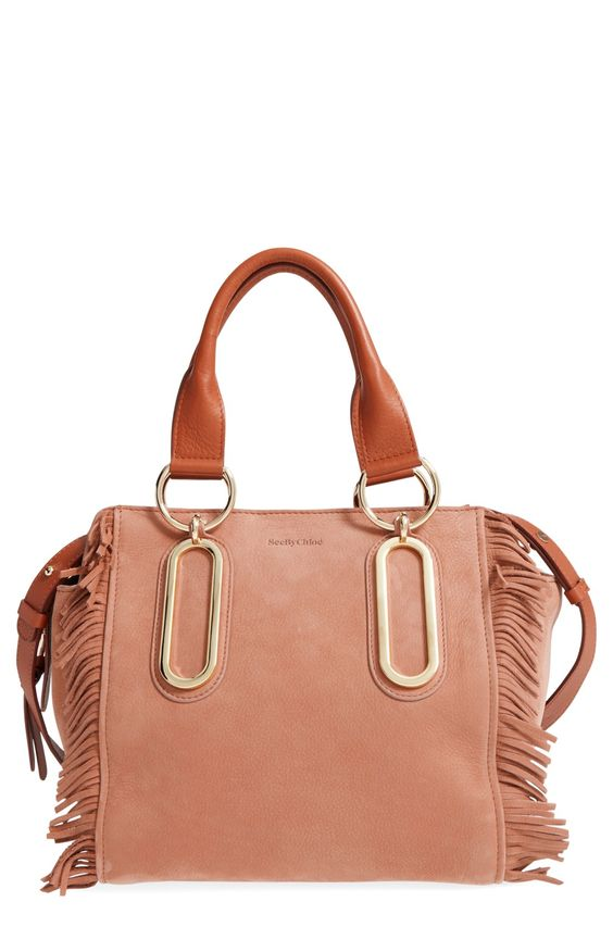 See by Chloé 'Paige' Fringe Leather Crossbody Bag