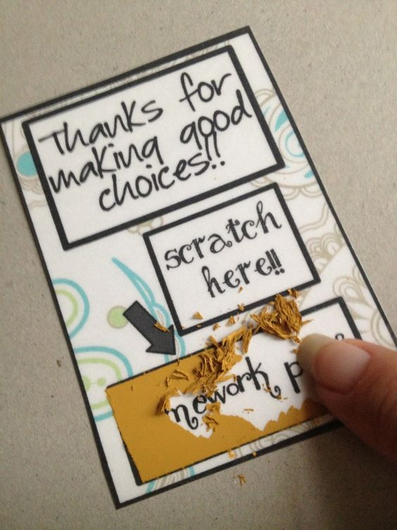 "Scratch off rewards! Follow website link and then select ""scratch off rewards"" on the side bar. Excellent step-by-step directions on how to make these-- will be fun to try out!!"