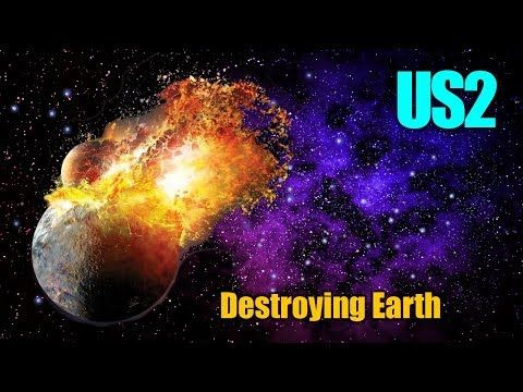 Realistically Destroying Earth In Universe Sandbox 2 Youtube Sandbox Destroying Universe